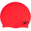 speedo Plain Moulded Silicone Bathing Cap red